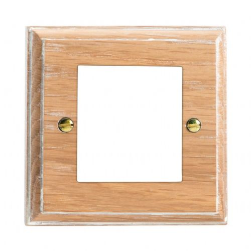 Varilight XKG2LO Kilnwood Limed Oak DataGrid Plate (2 DataGrid Spaces)